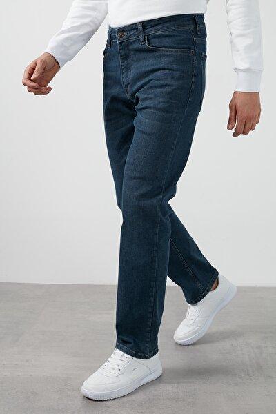 Yüksek Bel Regular Fit Boru Paça Pamuklu Jeans Erkek Kot Pantolon 7421f138kıng