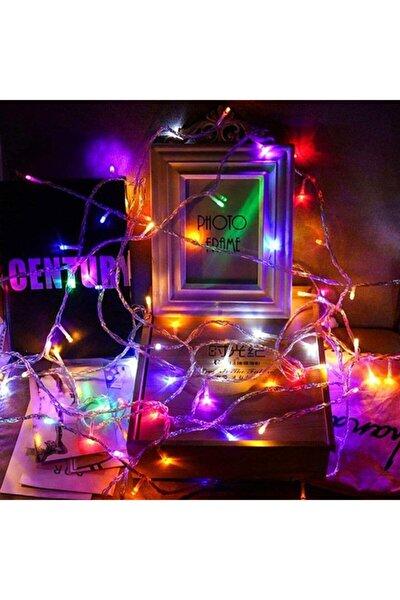 Led Lamba 10m Uzunluğunda Fişli 100led Şeffaf Kablolu 8 Fonksiyonlu Çok Renkli (rgb)