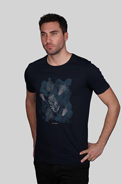 Erkek Lacivert Slim Fit Tişört