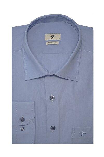 Erkek Koyu Mavi Regular Fit Gömlek