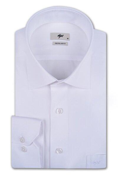 Erkek Beyaz Regular Fit Gömlek