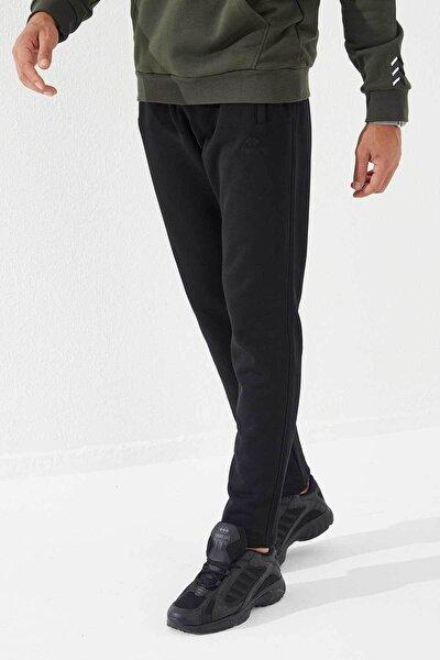 Erkek Siyah Cep Detaylı Normal Paça Eşofman Altı
