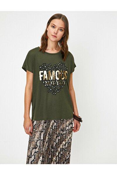 Kadın Yeşil T-Shirt 0KAK13889EK
