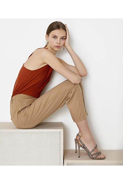 Kadın Turuncu Sırt Detaylı Bluz IS1200070235054