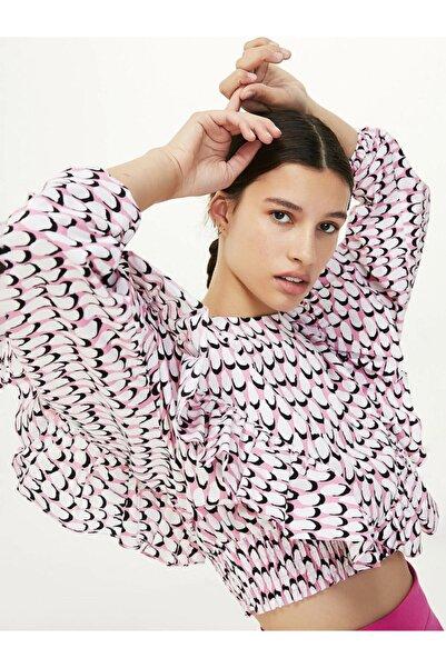 Kadın Pembe Crop Bluz