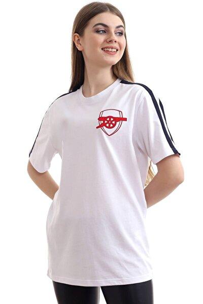 Unisex Beyaz Arsenal T-shirt