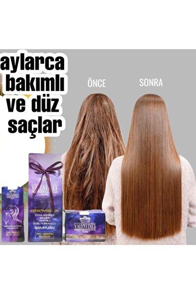 Professional Jel Keratin + Şampuan + Serum 3 Lü Set (brezilya Fönü)