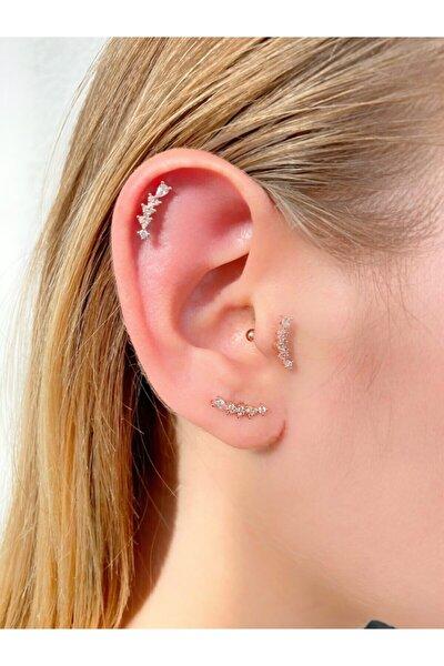 Taşlı Helen Rose Tragus,helix,kıkırdak Piercing