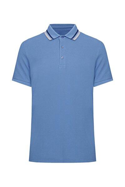 Erkek Koyu Mavi  Polo Yaka T-shirt