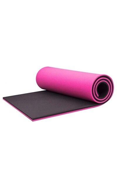 Pembe Siyah 16 mm Çift Taraflı Pilates Matı 180 cm