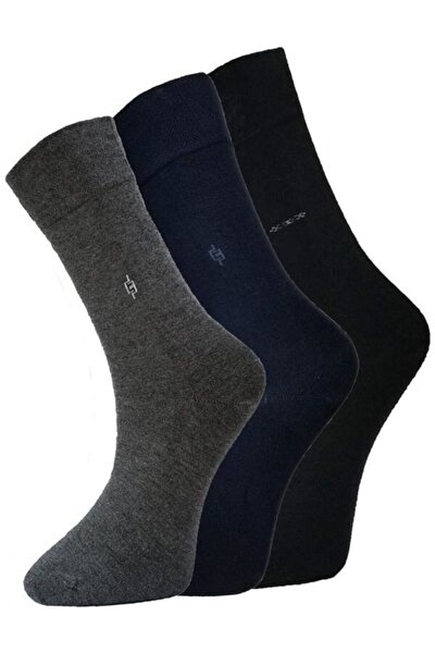 Erkek Siyah 12li Soket Çorap
