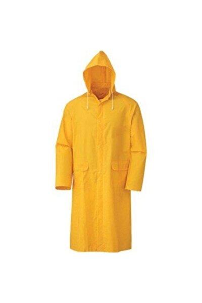 Unisex Sarı Pvc Astarlı Pardesü Yağmurluk Standart Xl Beden