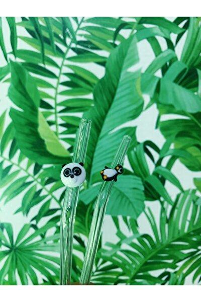 Penguenli Pandalı 2'li Cam Pipet Seti