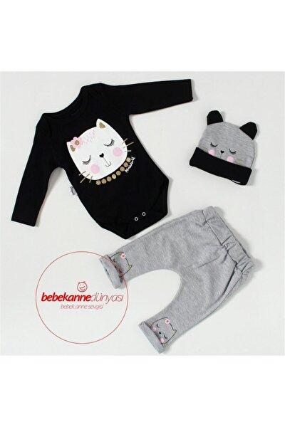 Miniworl Baby Lüx Uyuyan Kedi Şapkalı Takım M402