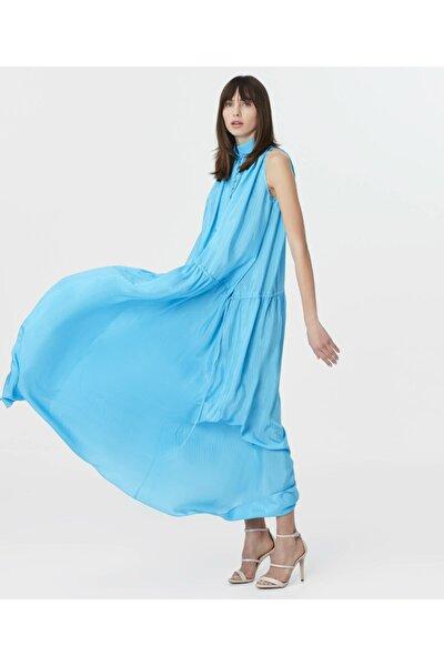 Kadın Mavi Maksi Elbise