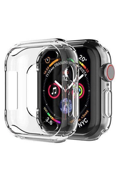 Microsonic Watch Series 6 44mm Kılıf 360 Full Round Soft Silicone Şeffaf