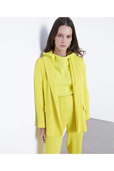 Kadın Sarı Klasik Kesim Ceket