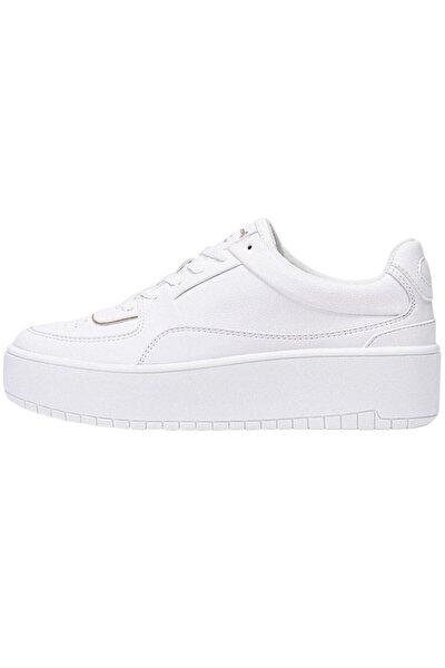 Kadın Beyaz Şeritli Spor Ayakkabı 19000770