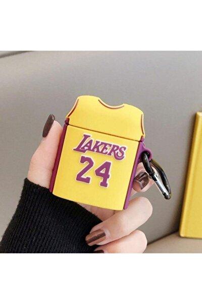 Sarı Lakers Silikon Sevimli Airpods Kılıfı
