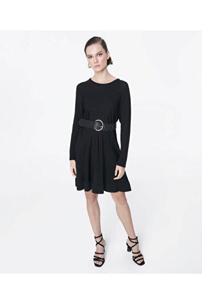 Kadın Siyah Triko Elbise IS1200050076001