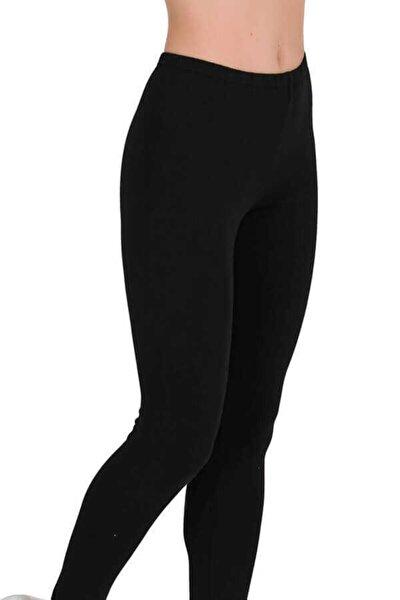 Kadın Siyah Uzun Penye Tayt 2 Li