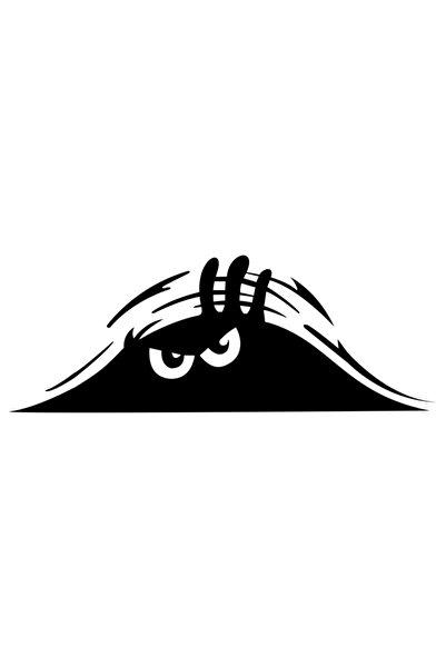 Siyah 30 cm Bagajdan Bakan Adam Oto Sticker Araba Sticker
