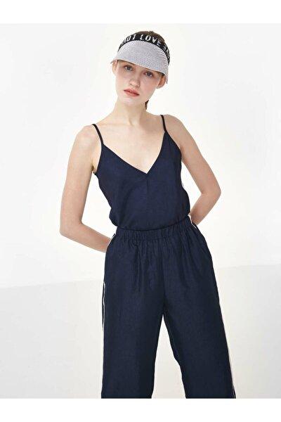 Kadın Mavi İp Askılı Bluz TS1200006240015