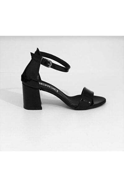 Kadın Siyah Tek Bantlı Topuklu Sandalet