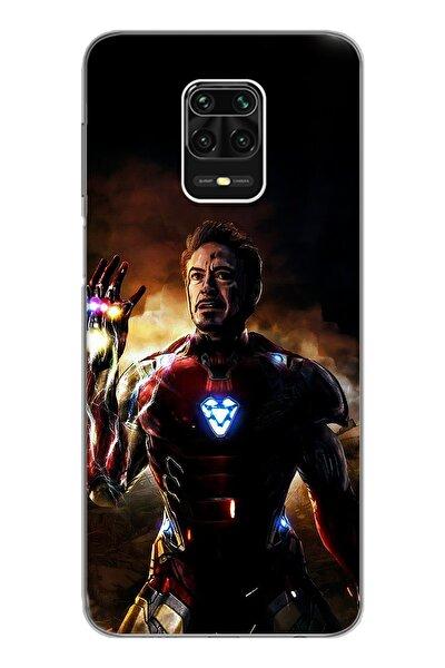 Iron Man Tasarım Süper Şeffaf Silikon Telefon Kılıfı Xiomai Redmi Note 9 Pro - Note 9s