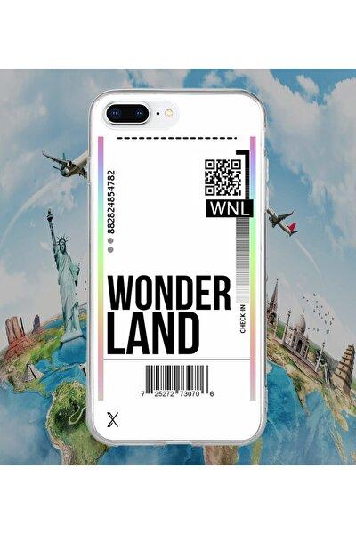 Iphone 7 Plus Wonder Land Air Ticket Baskılı Telefon Kılıfı