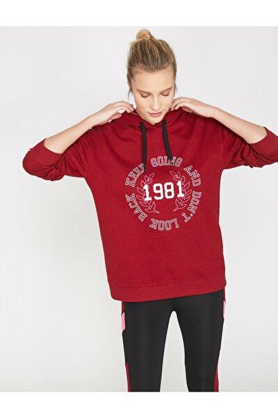 Kadın Bordo Sweatshirt 9YAK12024YK