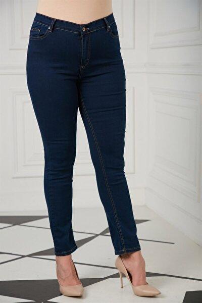 Kadın Lacivert Büyük Beden Pantolon