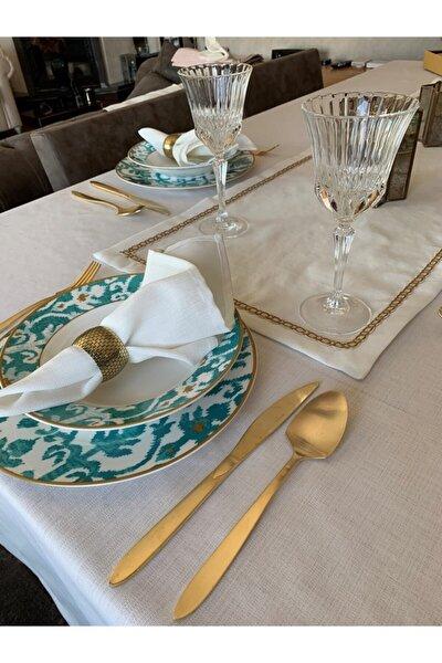 Kırık Beyaz Mia Masa Örtüsü