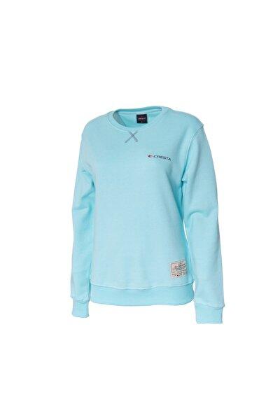 Kadın Turkuaz Outdoor Basic Sweatshirt