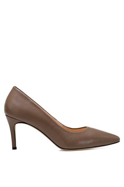CAVIR Vizon Kadın Hakiki Deri Topuklu Ayakkabı 100581949