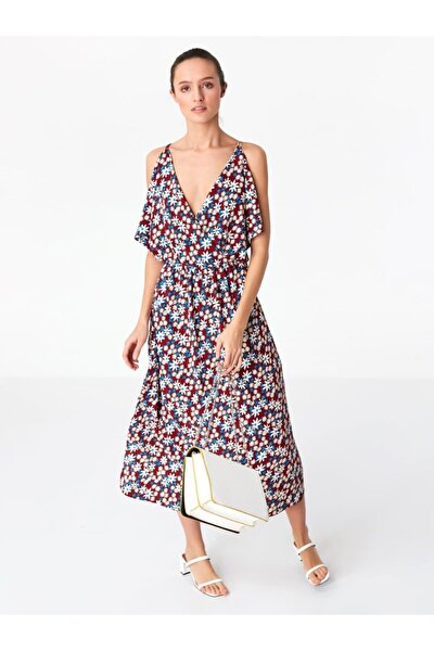 Kadın Çiçek Desen Elbise