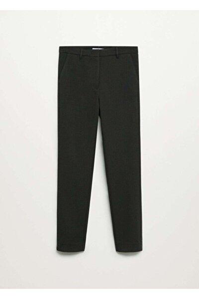 Kadın Haki Dar Kesimli Takım Pantolon