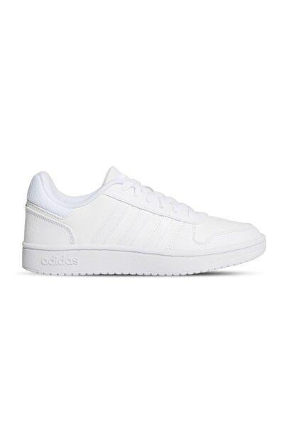 Kadın Beyaz Basketbol Ayakkabısı Hoops 2.0 K