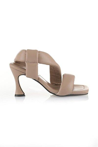 Kadın Vizon Topuklu Sandalet