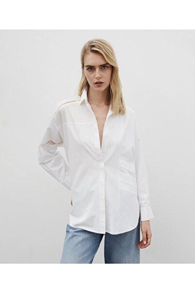 Kadın  Dantel Mixli Gömlek