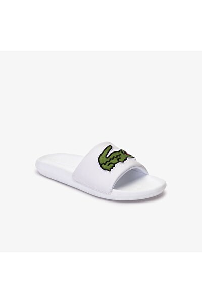 Erkek Beyaz Yeşil Terlik