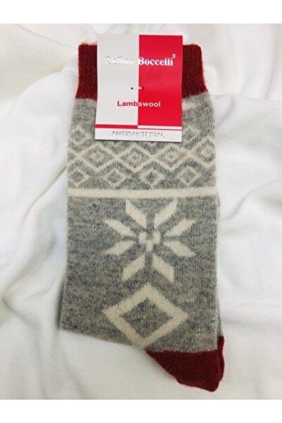 Kadın Gri Yün Çorap