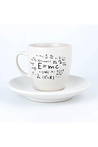 E=mc2 Krem Türk Kahvesi Fincanı
