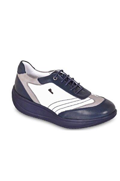 Kadın Lacivert  Hakiki Doğal Deri  Ayakkabı