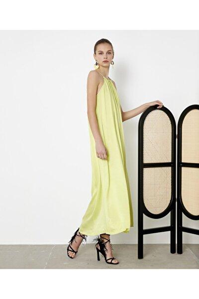 Kadın Yeşil Askılı Elbise