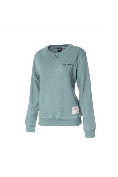 Kadın Yeşil Basic Outdoor Sweatshirt