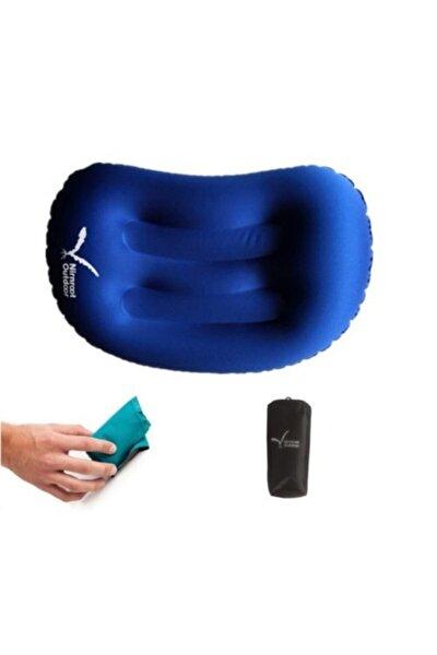 Mavi Şişme Kamp Yastığı