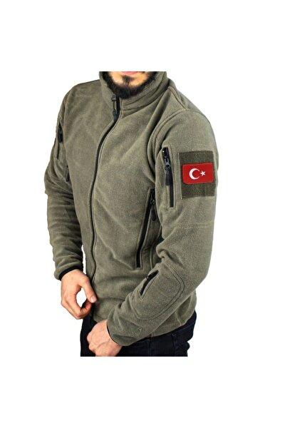 Askeri Tip Taktik Polar Mont Haki Renk Ve Türk Bayrağı Peç