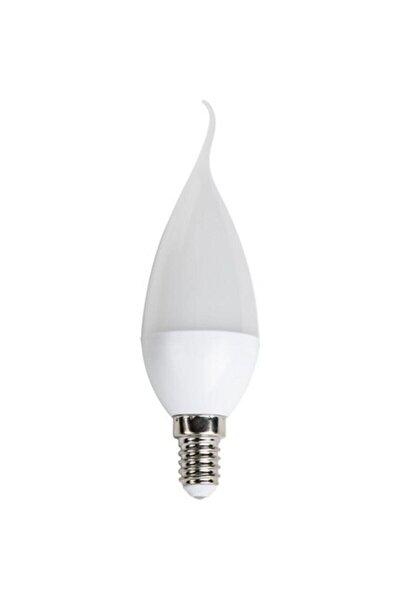 Beyaz Cata 6'lı 8 Watt Ince Kıvrık E14 Duy Mum Buji Led Ampul