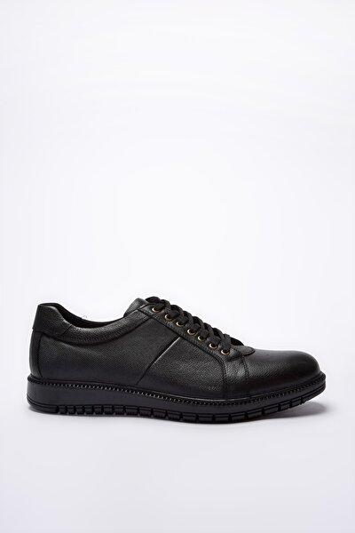 Hakiki Deri Siyah Erkek Sneaker 02AYH200860A100